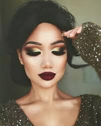 festive gold glittery eye makeup dramatic look