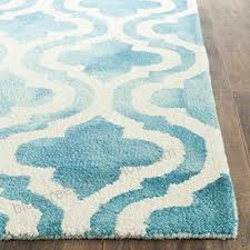 safavieh dip dye collection ddy537d handmade vibrant geometric moroccan watercolor turquoise and ivory wool area rug