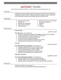 Office Assistant Duties On Resume Best Office Assistant Resume Example Livecareer
