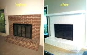 painted brick fireplace white painted brick fireplace before and after image of painting brick fireplace before