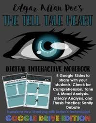 tell tale heart test essay questions detailed answer key  poes the tell tale heart digital interactive notebook for google drive
