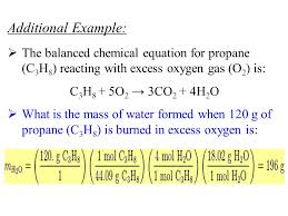chemical equation for propane jennarocca