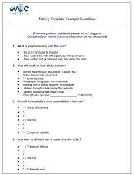 Sample Surveys Questionnaires Sample Survey Examples Barca Fontanacountryinn Com