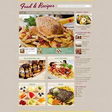 Food Recipe Template Cooking Recipe Web Template Free Website Templates