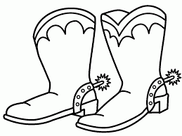 Small Picture Cowboy Boots Coloring Pages Bestofcoloringcom