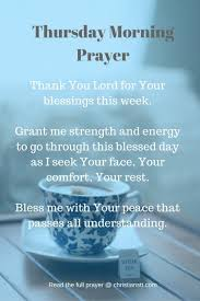 Morning Prayer Quotes 76 Best Thursday Morning Prayer And Bible Verses ChristiansTT