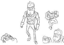 Free Hello Neighbor Coloring Pages For Boys Get Coloring Page