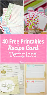 Index Card Recipe Template Free Printable Index Cards 4x6 Mult Igry Com