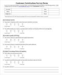 Product Survey Templates Custom 44 Sample Survey Forms In PDF Sample Templates