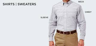 Neck Size Chart Dress Shirt Size Chart Mens Clothing Size Chart Haggar