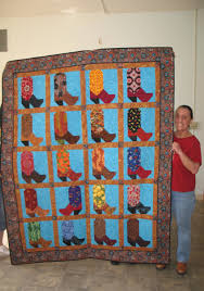 Reaching Out To The Community In & Quilting for Others boot quilt Adamdwight.com