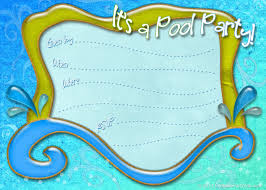 Boys Birthday Party Invitations Templates Free Printable Pool Party Invitation Template From