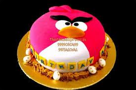 Angry Birds Birthday Cake For Kids Noida Online Kids Cartoon Cake