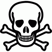Small Picture Skull coloring pages danger sign ColoringStar