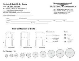 Custom U Bolt Order Form How To Measure U Bolts