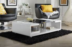 alexis modern white black high gloss and glass coffee table
