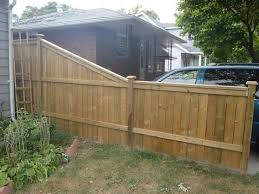 how to install wood fence panels on uneven ground step down fences