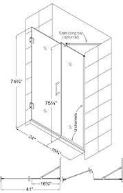 we recommend to use the following rule on designing your glass shower enclosure if your opening is less than 48 then use a door and one panel