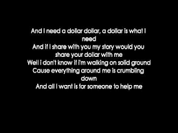 i need a aloe blacc i need a dollar lyrics youtube