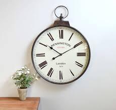 antique brass pocket watch wall clock