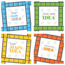 Film Strips Pictures Square Frames Of The Film Strips In Different Colors Vector