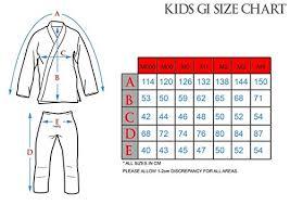 Ronin Gi Size Chart Tatami Kids Animal Gi Sky Blue