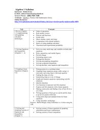 special topics algebra 1 syllabus