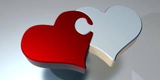 puzzle heart love two hearts partnership