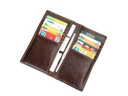 artmi mens rfid wallet vintage leather long bifold wallet genuine leather card holder