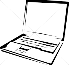 computer clipart black and white. black and white laptop computer clipart