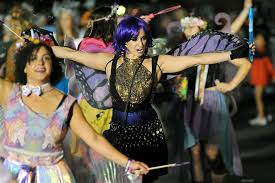 image witches and fairies made their way down the parade route during the 23rd annual