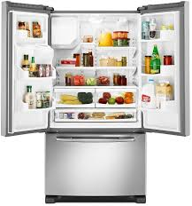 Image Inch Wide Maytag Ice2o Ecoconserve Series Mfi2665xem Interior View Aj Madison Maytag Mfi2665xem 255 Cu Ft French Door Refrigerator With Spill