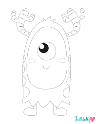 Monster Coloring Pages Faithfully Free