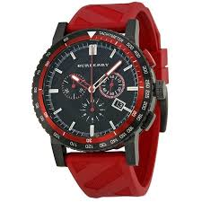 17 best ideas about burberry mens watches men s burberry men s bu9805 the city chronograph red rubber watch by burberry
