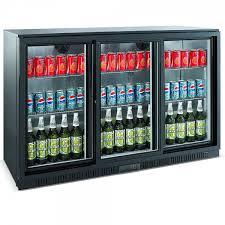 unitech bc30sbe 3 door sliding back bar display fridge