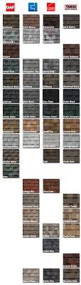 Shingle Color Comparison Chart 71 Systematic Asphalt Shingle Comparison Chart