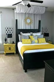 gray black white yellow bedroom color scheme and red