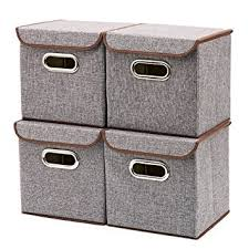 box storage containers. Interesting Containers Storage Boxes 4Pack EZOWare Linen Fabric Foldable Cubes Bin Box For Containers E