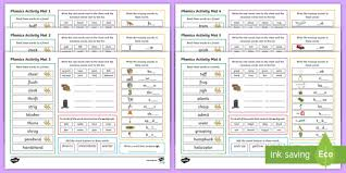 Find worksheets, centers, reading comprehension, and more. Phonics Activity Mat Resource Pack 1 Phases 2 5