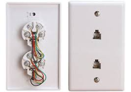 cheap telephone jack rj telephone jack rj deals on line lot of 10 white 6p4c double phone jack wall plate 6p 4c rj 11