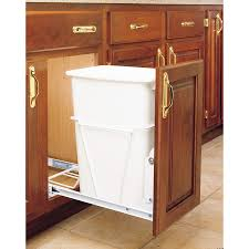 RevAShelf 35Quart Plastic Pull Out Trash Can Trash Can Cabinet Insert D65
