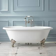 double ended tubs have two rounded ends to provide the option of bathing on either side however the ends are not raised both walls are gently sloped for