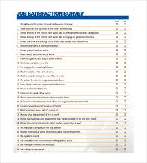 free printable survey template sample job satisfaction survey 5 documents in pdf word