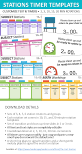 Station Rotation Timers For Powerpoint Editable Templates