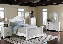 elements brook white queen headboard footboard rails triple dresser mirror and