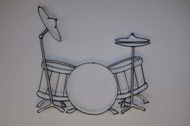 Drum Set Metal Wall Dcor