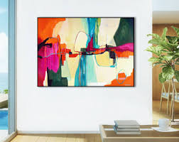 Extra Large abstract painting print, ABSTRACT PRINT LARGE, abstract canvas art  print, large