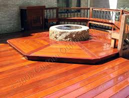 ipe deck with fire pit feature