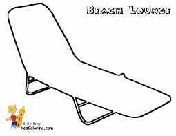Small Picture Beach chair coloring page