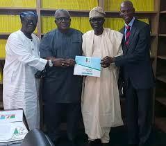 Image result for Lagos APC gov aspirant, Sanwo-Olu, submits form